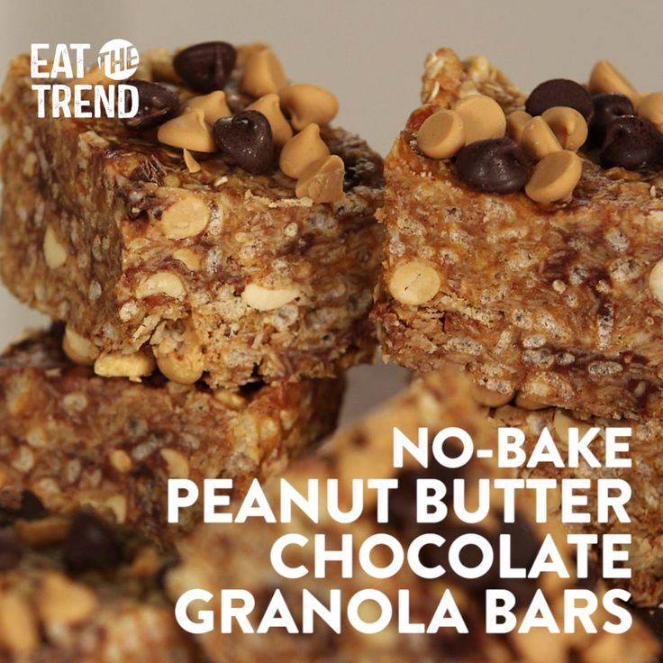 Chewy granola bars might seem like something made with food science alchemy, but they're actually quite easy to DIY. This easy no-bake recipe combines two favorite flavors — chocolate and peanut butter — into one tidy package. A great portable snack, they're perfect for a busy family on the go.