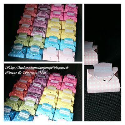 Le scrap de barbara: Petites Boîtes à bonbons réalisées grâce à l'Insta enveloppes de chez Stampin'Up!