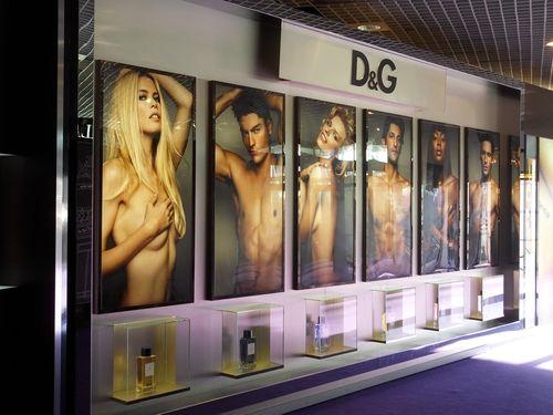 Perfume display exhibition D&G