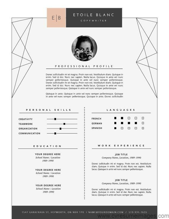 Modern Resume Template Cover Letter Template For Word And Pages Creative Resume Design Professional Cv Template Instant Download Cv Resumes Cv Examp Creatief Cv Ontwerp Ontwerp Cv Creatief Cv