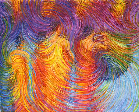 Buddhist Monks Energy Clearing Painting by EnergyArtistJulia, $48.00