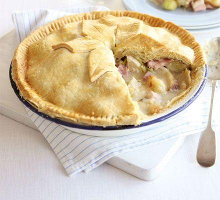 Chicken, ham, leek & roast potato pie recipe - Recipes - BBC Good Food