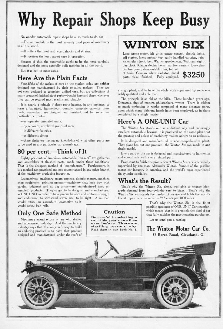1914 Winton Six.The Winton Motor Car Co. | Autos - Teens and Earlier ...