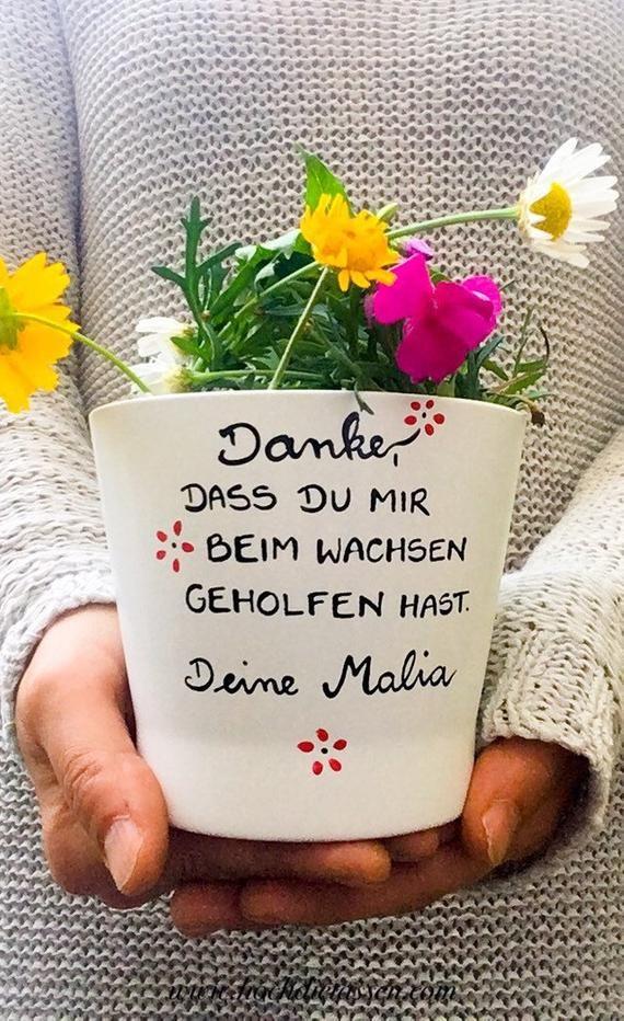 Blumentopf Erzieherin, Danke Kindergarten, Geschenk Erzieherin, Tagesmutter,Danke, dass du mir beim wachsen geholfen hast, wachsen blumen
