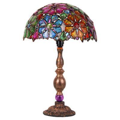 Lámpara de mesa flores color E27