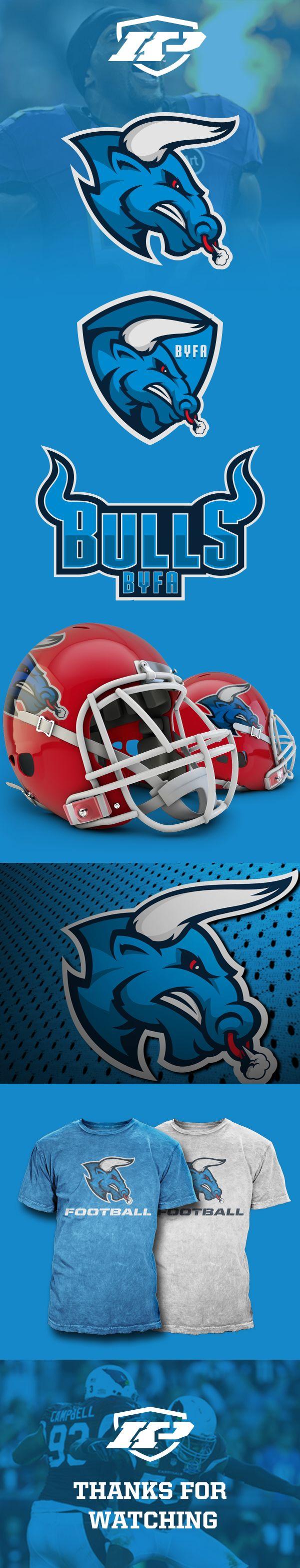 sports design and marketing graphics BULLS by Khisnen Pauvaday, via Behance