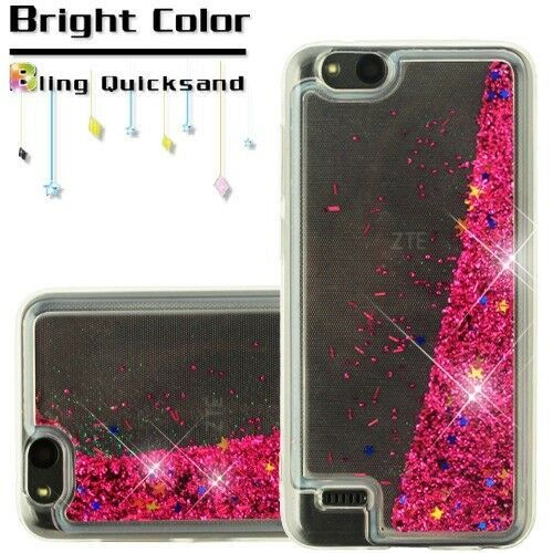 wholesale dealer 34bff 92e9e PINK Quicksand Glitter Hybrid SKIN PROTECTOR COVER CASE FOR ZTE Avid ...