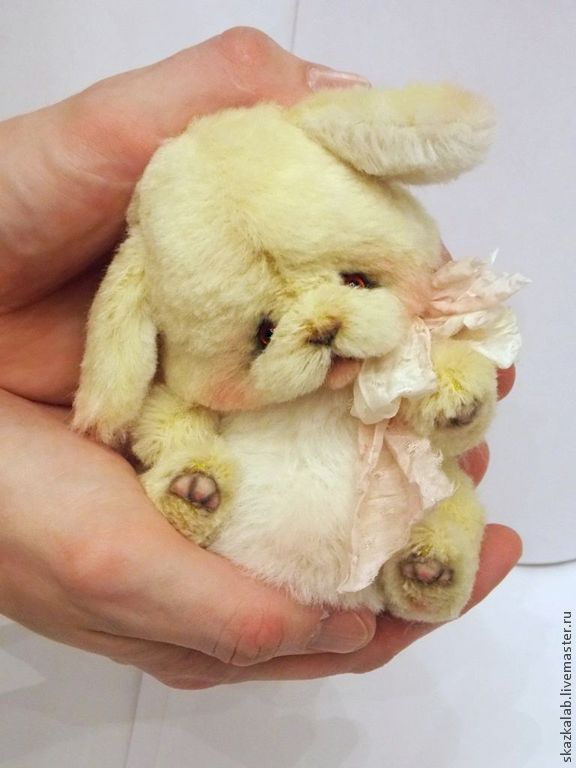 Купить Одуванчик - желтый, зайка, заяц, кролик, зайчик, заинька, тедди, авторский, коллекционный, пушистый