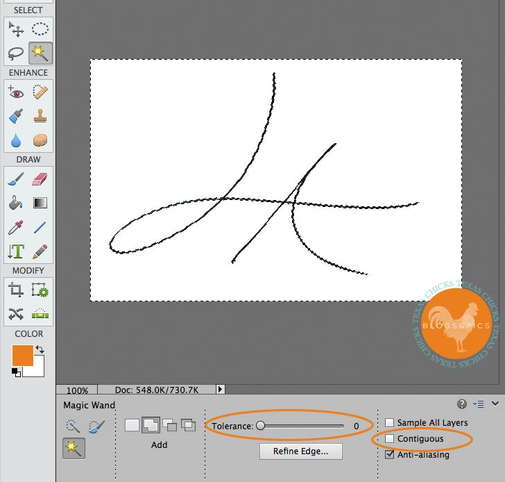 Create a Watermark from Your Signature in Photoshop Elements
