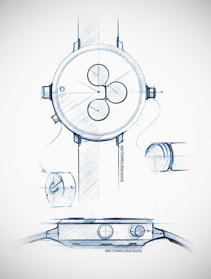 wrist watch design - sketches & renders on Behance