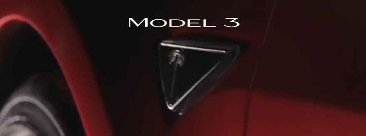 Nuovo logo per la Tesla Model 3! E' da poche ore rimbalzata dagli USA la notizia che il logo della famosissima (ancora prima di andare in produzione!) Tesla Model S - berlina 100% elettrica per il mercato di massa - è stato aggiorna #teslamodel3 #autoelettrica