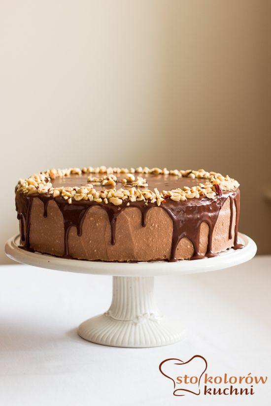 sto kolorów kuchni: Tort orzechowo - czekoladowy