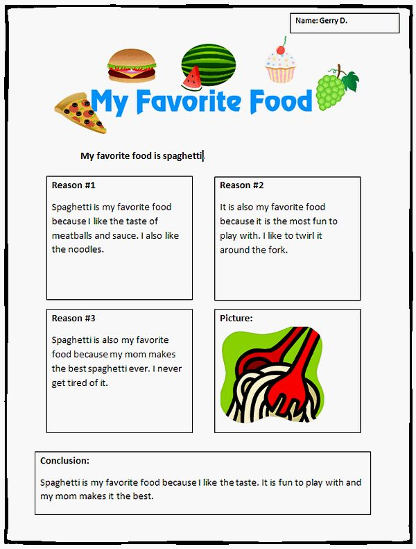 favorite food essay Writing essays about food and cuisine is one of the most popular assignments at school at a certain point in life, all students are assigned to write about their favorite products and dishes most teachers usually want their students to compose a descriptive or a process essay both types are about describing foods the former.