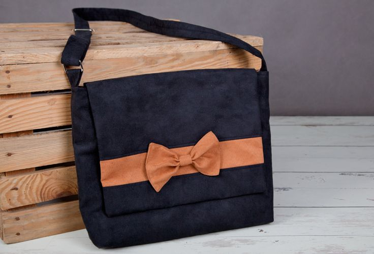 Messenger Bag with phone case, Shoulder Bag by homemadeByBZ on Etsy