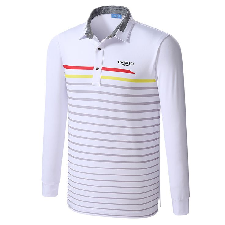 Golf shirts Newest Autumn Striped Long Sleeve  Appreal Men Breathable sport Golf Clothes  Men'S Long Sleeve Polo Golf tops