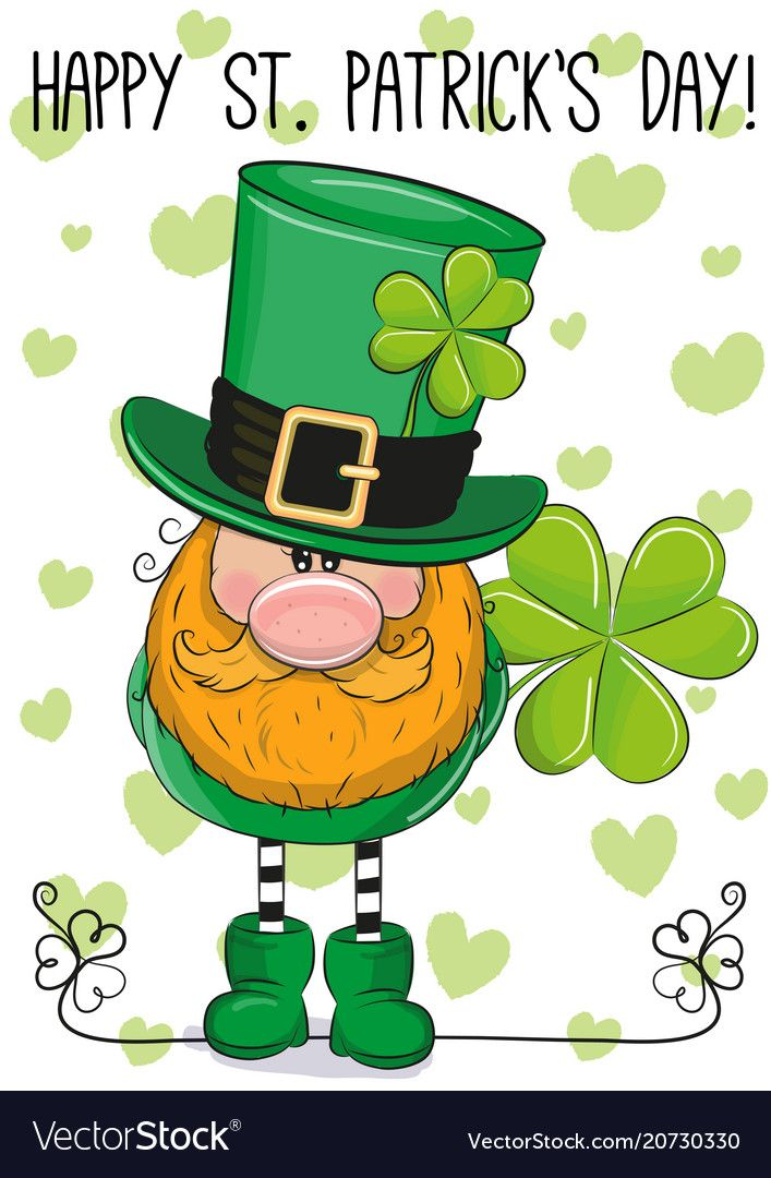 St Patricks Greeting Card With Leprechaun Vector Image In 2021 St Patricks Day Wallpaper St Patricks Day Clipart St Patricks Day Pictures