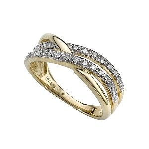 Ernest Jones - 9ct gold diamond ring