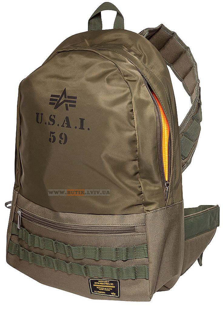 Сумка Flanker Backpack Alpha Industries (оливкова) Наявність: під замовлення Ціна: уточнюйте, будь ласка