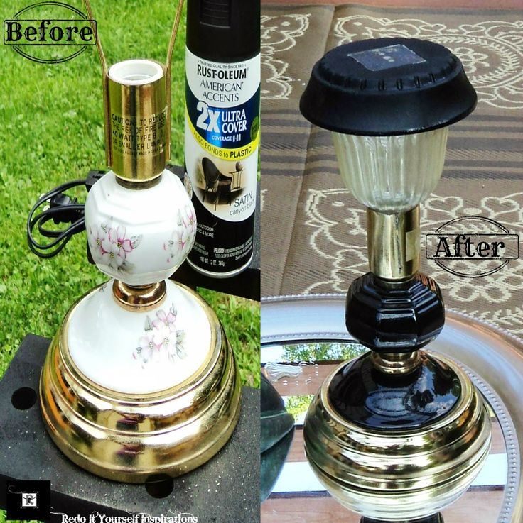 Redo It Yourself Inspirations : Solar Lighting: Cut the Cord! Turn in old corded lamp into a beautiful outdoor solar lantern.