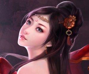 Gyönyörű lány festmény műalkotás