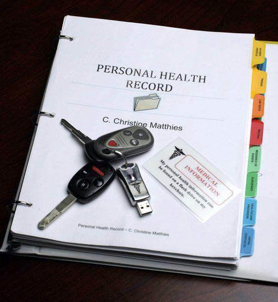 Monday Organizer Keeping Medical Records