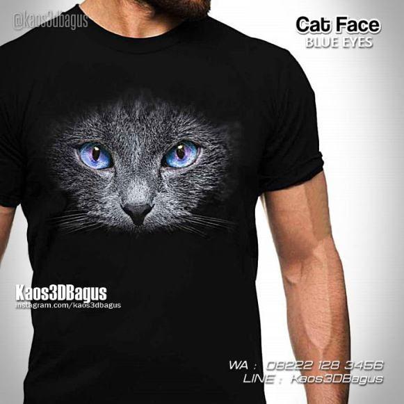 Kaos KUCING, Kaos Gambar Kucing, Kaos Kucing Hitam, Blue Eyes Cat, https://kaos3dbagus.wordpress.com, WA : 08222 128 3456, LINE : Kaos3DBagus