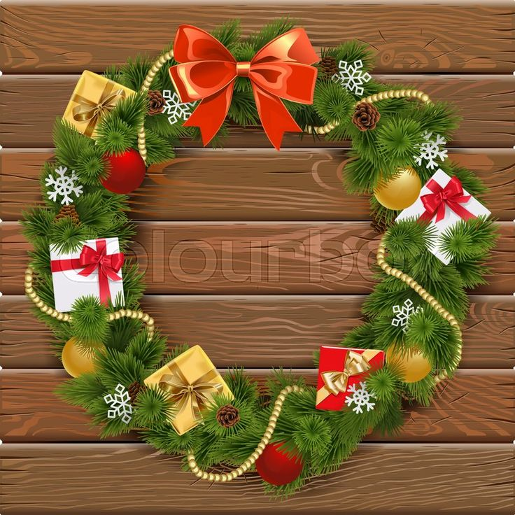 Christmas Wreath, vector graphic