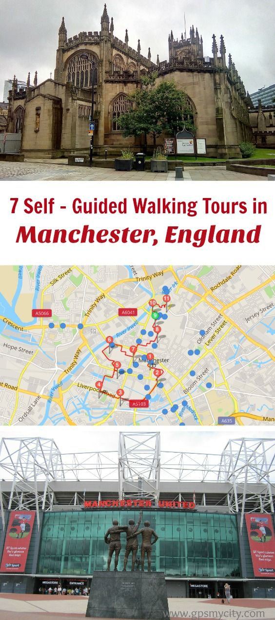 Follow these 7 expert designed self-guided walking tours in Manchester, England to explore the city on foot at your own pace. Each walk comes with a detailed tour map and together they are the perfect Manchester city guide for your trip.