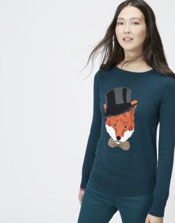 Marsha Marlfox knit sweater (jumper) by Joules at www.AppareLuxury.NYC