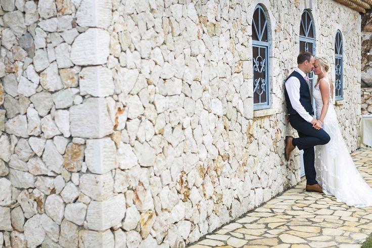 Rustic stone chapel wedding Skala Kefalonia Greece