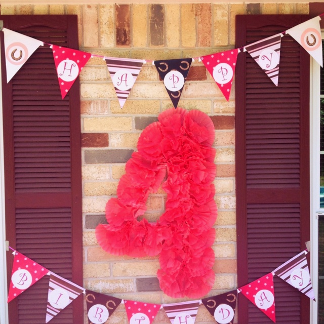 Homemade birthday decorations by me :) made all of this for my daughter's cowgirl themed 4th birthday party