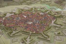 Maquete gemaakt in 1751 van Bergen op Zooom in de Markiezenhof