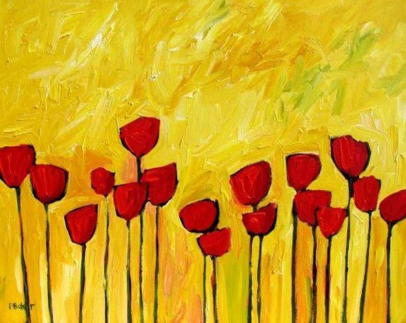yellow and red: painting