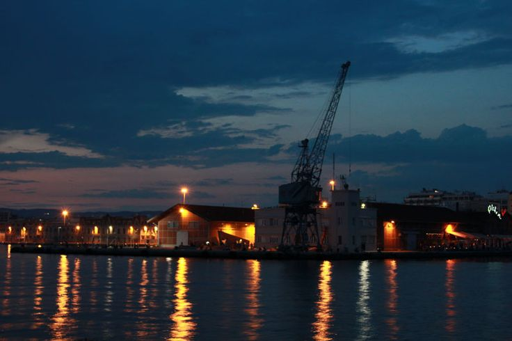 Thessaloniki Port during the Night