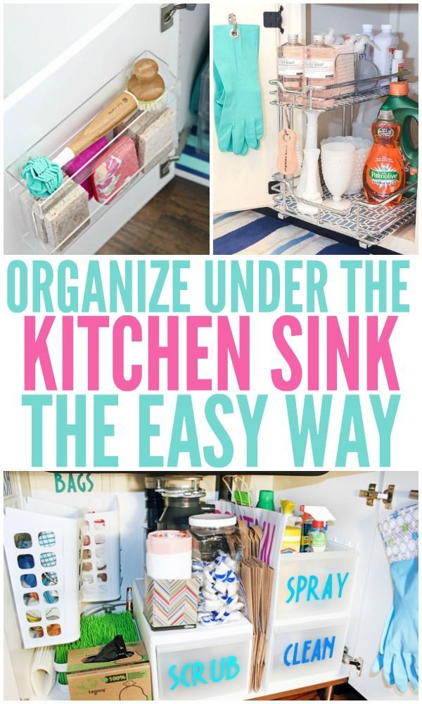 15 Genius Under The Kitchen Sink Organization Ideas Organizing