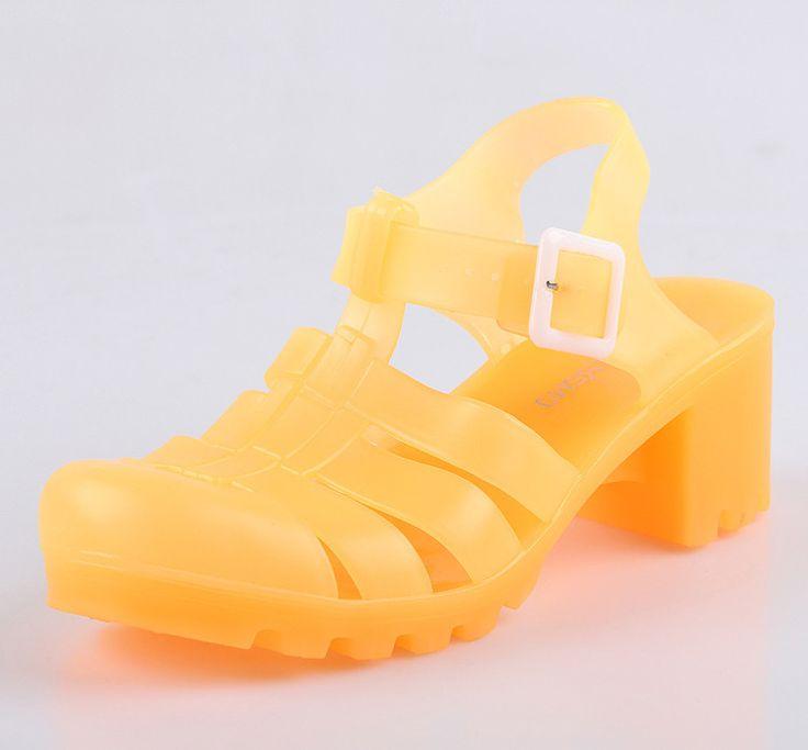 2015 confortable femmes melissa sandale coupé talons PVC gelée chaussures étanche classique en plastique chaussures chaussures romaines pour dame-image-Chaussures de ville-ID de produit:60207956045-french.alibaba.com