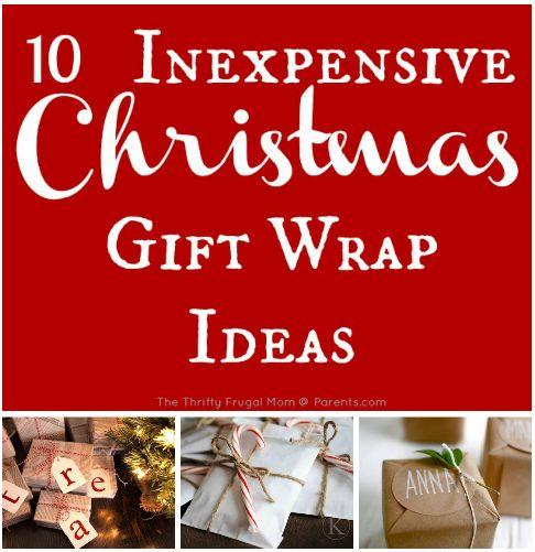 10 Inexpensive Christmas Gift Wrap Ideas #ParentsGifts #ParentsMagazine