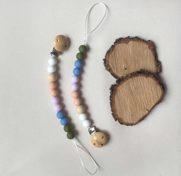 beautiful pacifier clips for your babies! They can chew on the beads safely to relief their teething pain, they are just perfect!