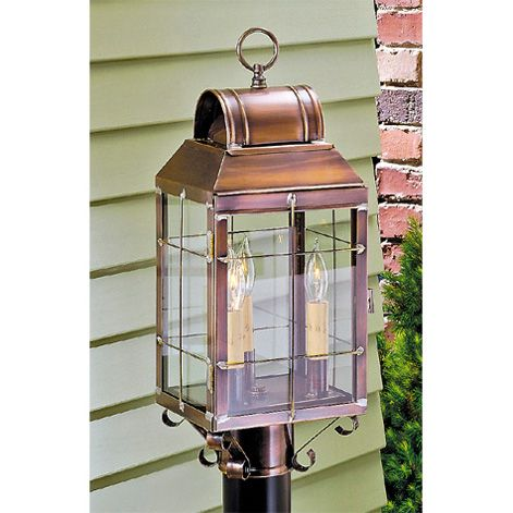 Martha S Post Lantern By Irvin Country Tinware Is Wired With Three Candelabra Sockets 60 Watts Max Per Socket This Fixture Ul