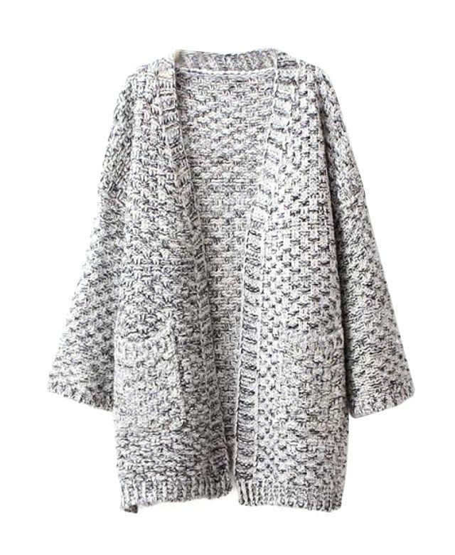 Long Sleeves V-neck Slit Coat