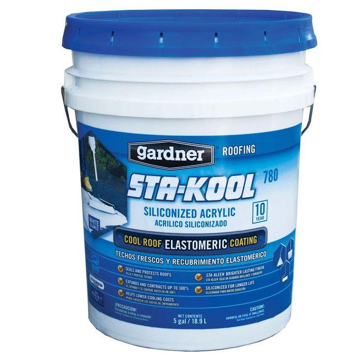 5 Gal. Sta-Kool 780 Siliconized Acrylic White Elastomeric Roof Coating (27-Pallet)