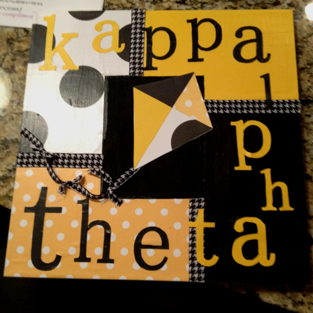 Cute Kappa Alpha Theta craft! #theta1870 #thetadiy