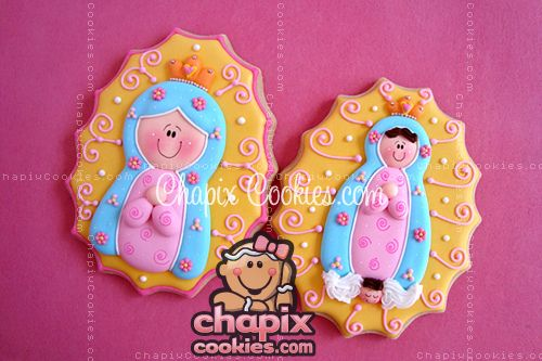 Chapix's Our Lady of Guadalupe cookies