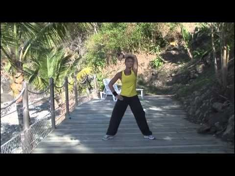 La marche active chez soi, renforcement musculaire - Cours fitness complet - YouTube