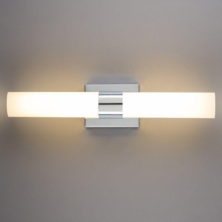 "Perpetua 22"" 2-Light LED Bath Bar | Frosted glass, Bath ..."