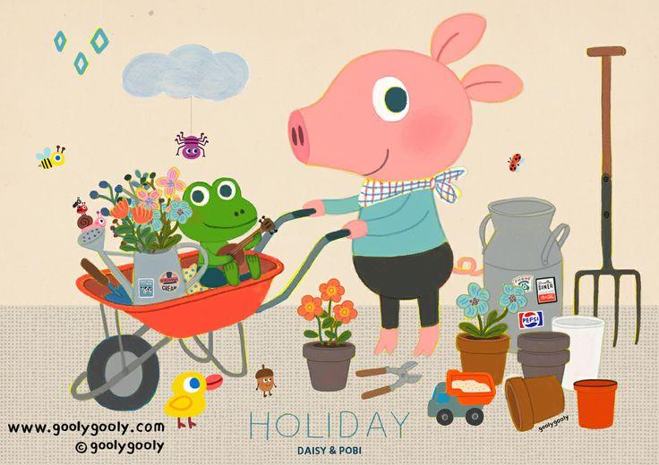 Daisy&Pobi 오늘은 데이지와 포비의 다정한 봄날입니다. www.goolygooly.com www.goolygoolyshop.com