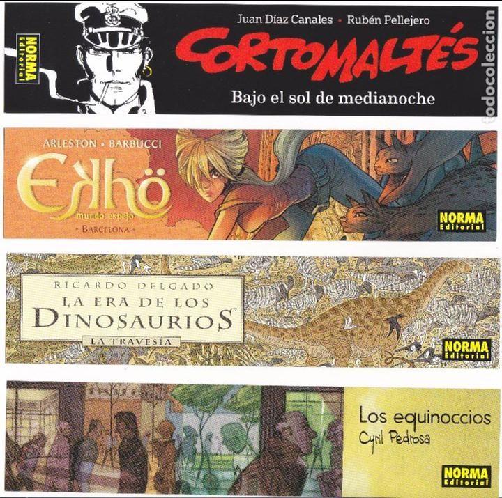 LOTE 8 MARCAPÁGINAS EDITORIAL NORMA PUNTO DE LIBRO