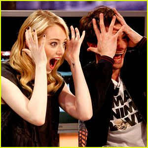 Emma Stone and Andrew Garfield. I feel like if they knew me, we would be best friends.
