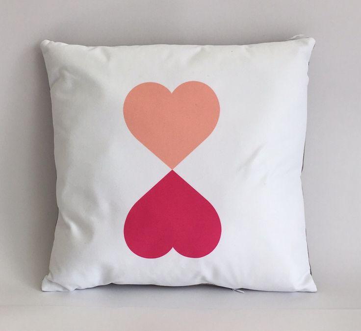 Two heart cushion. Teen girl cushion.