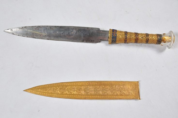 What do you get the boy pharaoh who has everything? A dagger made out of meteorite iron, of course.